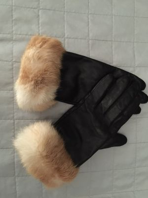 Real rabbit fur leather gloves. for sale  Tulsa, OK