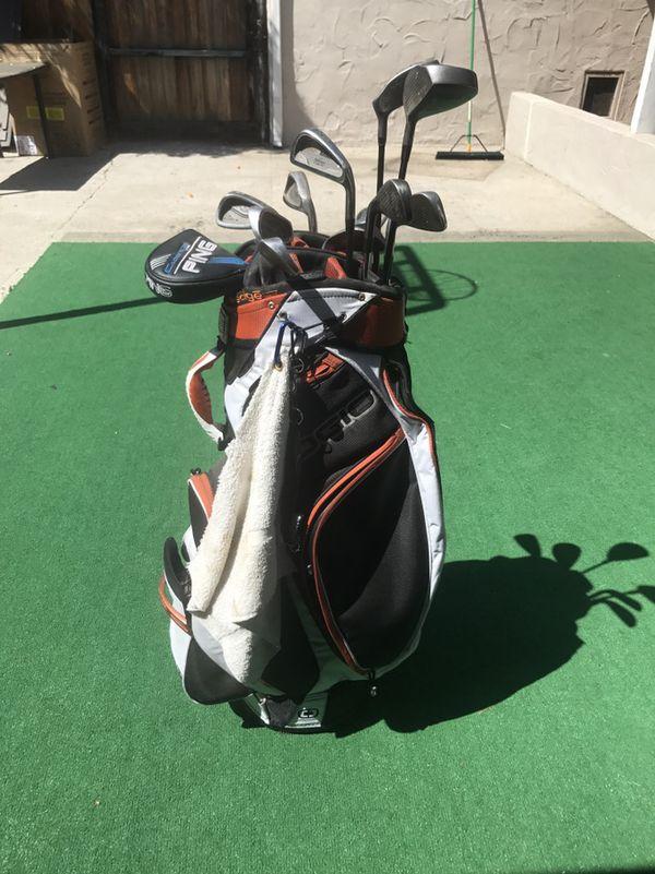 Golf clubs and bag- ping f367bdfb61b58