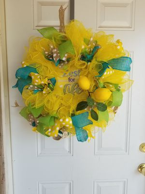 Hose garden wreath for sale in sand springs ok offerup lemon wreath for sale in sand springs ok mightylinksfo