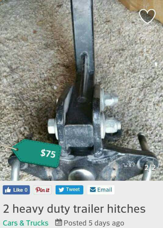 2 heavy duty trailer hitches