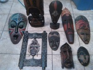 African an Indonesian mask wall art collection for Sale in Phoenix, AZ
