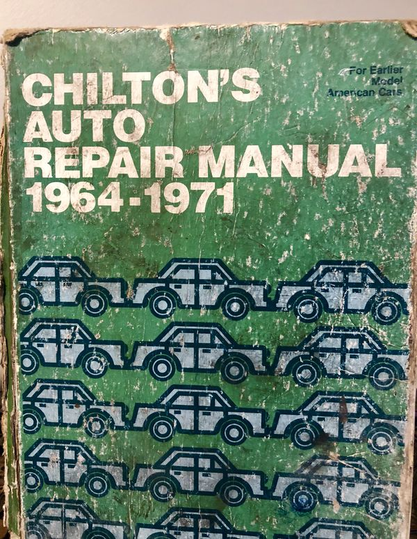 chiltons auto repair manual 1971
