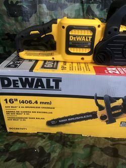 "Dewalt Chainsaw 16"" Flex Volt Brushless ""tool Only"" Thumbnail"