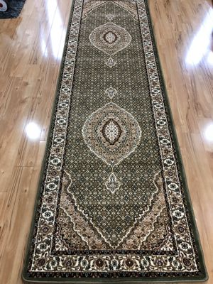 Brand new carpet runner size 3x10 nice green rug hallway runners for Sale in Burke, VA