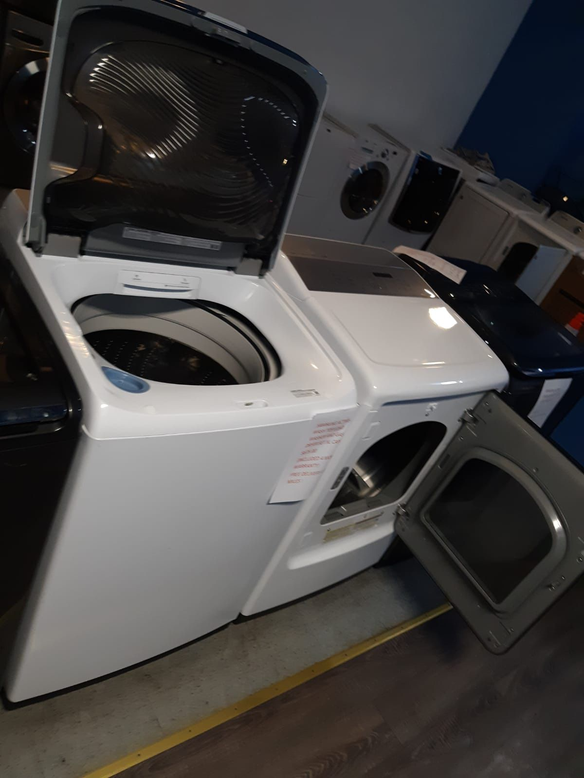 SAMSUNG ACTIVE-WASH TOP LOAD WASHER AND GAS DRYER SET $650.00 IN EXELENT CONDITION