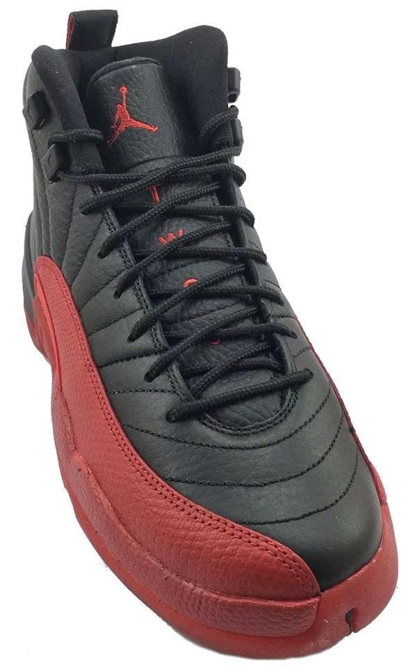 lowest price 949cd eafe2 For Sale  Nike Air Jordan XII 12 Flu Game Retro Black Red Size 6 .5Style   130690 002 Colorway  Black Varsity Red