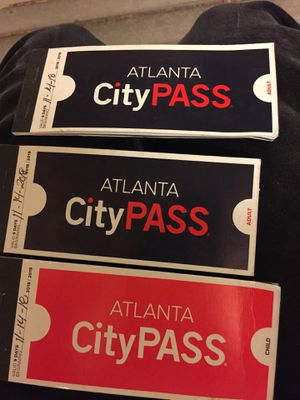 I have 2 adult coke tour passes and 1 kids also 1 adult pass to the aquarium for Sale in Atlanta, GA