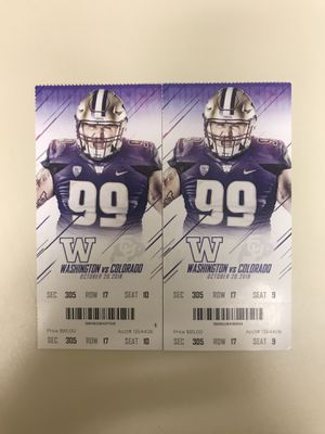 UW TICKETS- make offer for Sale in Tacoma, WA