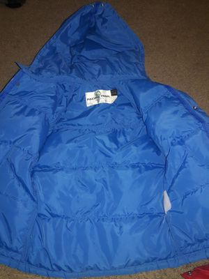 Blue snow jacket for boy for Sale in Corona, CA