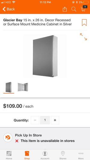 Brand New in box beautiful all glass medicine cabinet! for Sale in Orlando, FL