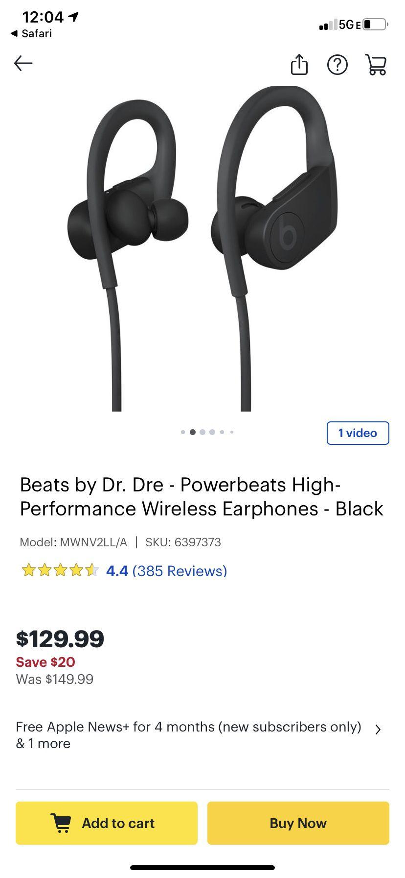 Beats by Dre earphones
