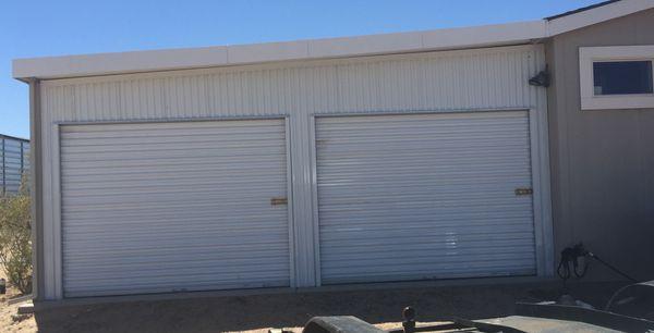 Carport barn garage enclosed rv garage sheds horse for Rv garage doors for sale