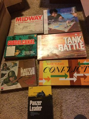 Vintage war board games WWII for Sale in Valley Center, CA