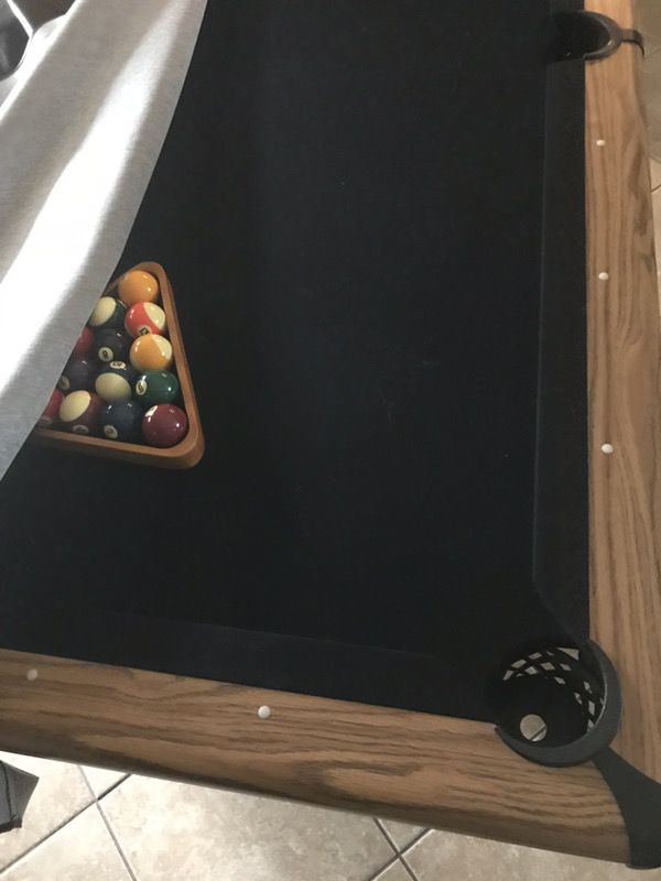 Ft Showood Slate Pool Table Black Felt For Sale In Eustis FL OfferUp - Showood pool table