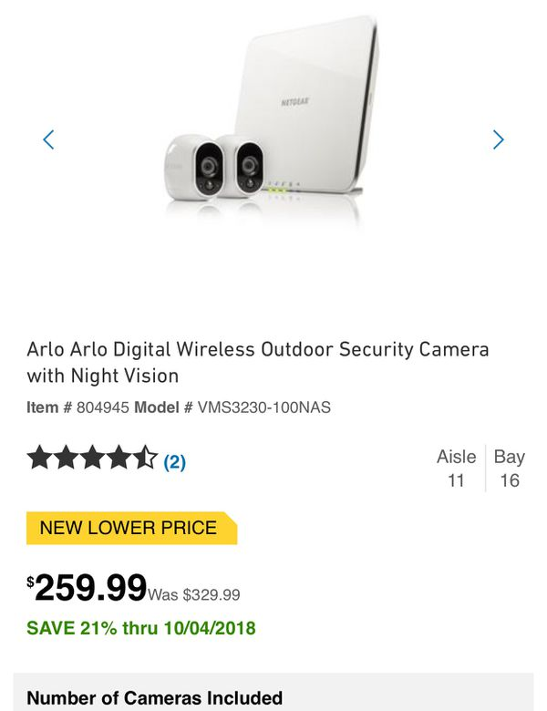 NETGEAR ARLO WIRE FREE HD SECURITY CAMERA NEW NEVER OPEN for Sale in  Dallas, TX - OfferUp
