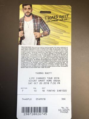 Lower bowl Thomas Rhett tickets for Sale in Bingham Canyon, UT