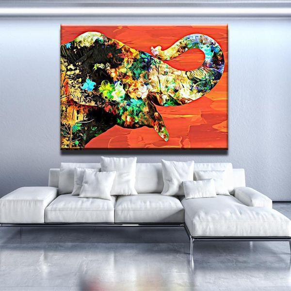 Abstract Elephant Wall Art Free Shipping For Sale In
