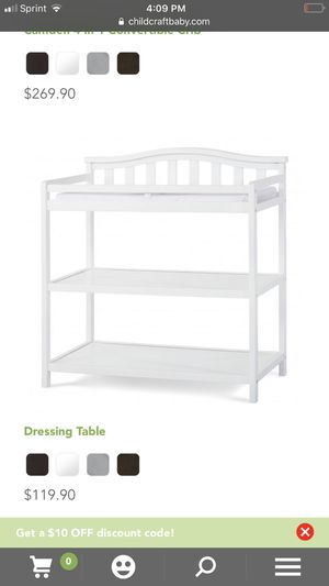 Brand new never used child's craft dressing and changing table for Sale in Rockville, MD