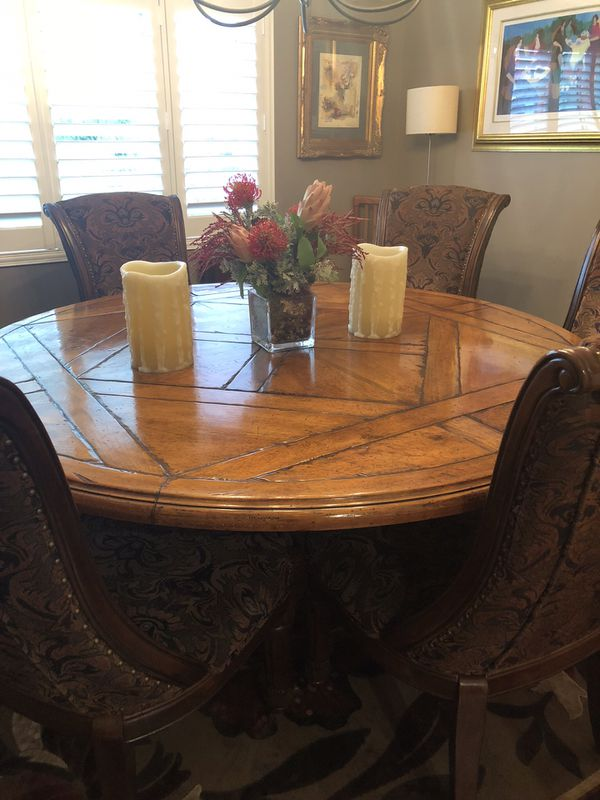 Round Solid Wood Dining Room Table For Sale In Redondo Beach CA - 70 round dining room table