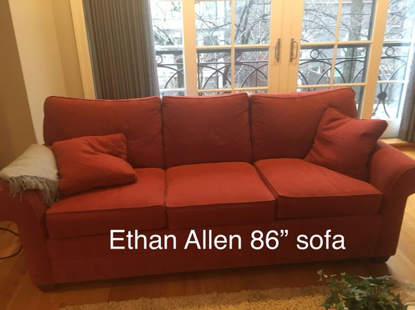 Excellent Quality Ethan Allen Red Sofa