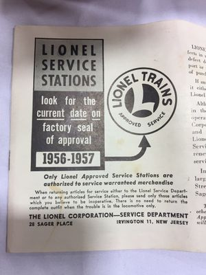 1950s Lionel Service Station Brochures for Sale in Centreville, VA
