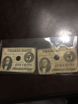 Veazie Bank Notes 1862 for Sale in Austin, TX