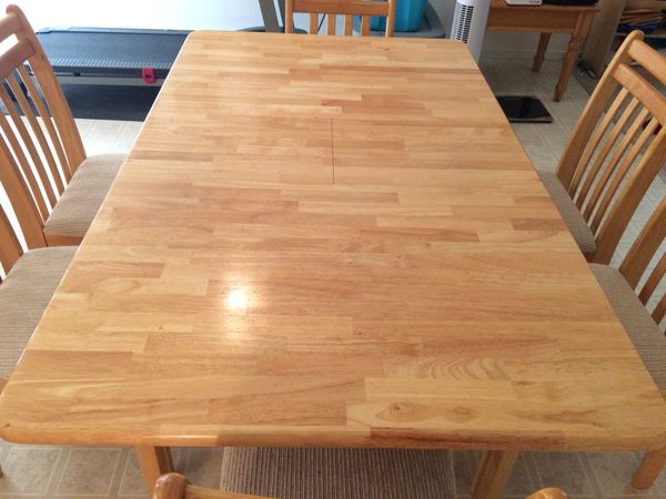 Butcher Block Table Set With 6 Chairs For Sale In Visalia Ca Offerup