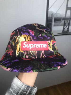 Painted floral camp cap for Sale in Brooklyn 69b93ab87bf