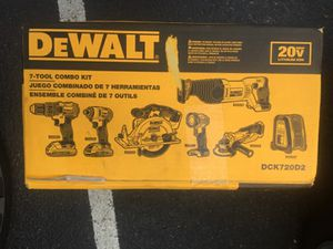 Dewalt 7 Tool 20-Volt Max Lithium Ion Cordless Combo Kit for Sale in Alexandria, VA
