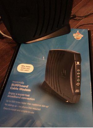 Motorola Surfboard Cable Modem for Sale in Dallas, TX