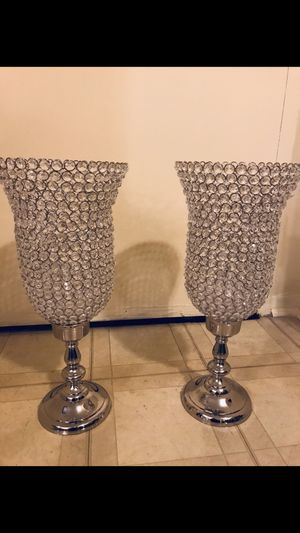 "Set of 2 new 22"" crystal candle holder centerpiece click on my profile picture on this page to check out my other listings message me if you interest for Sale in Gaithersburg, MD"
