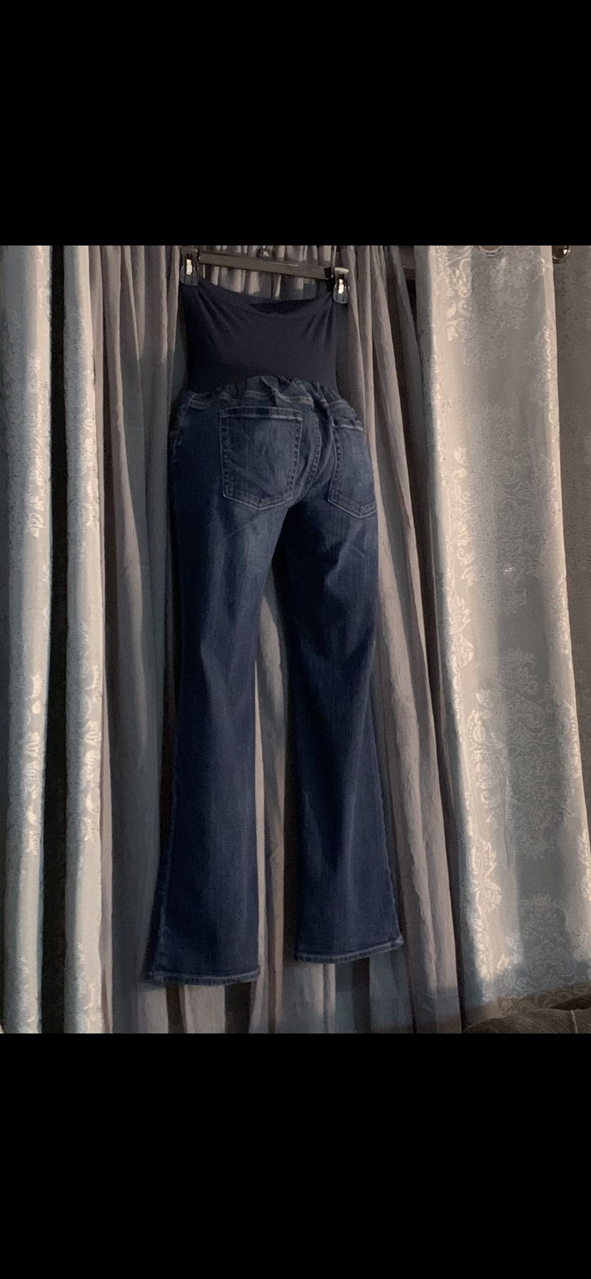 """""""A pea in the pod"""" maternity flare jeans PS ( petite small I"""