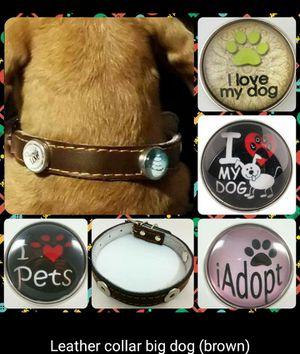 Collar de perro en brown/ ordena la tuya/ se van rapido/ incluye 3 botones surtidos for Sale in Kissimmee, FL