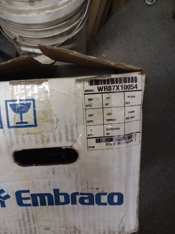Embraco Compressor (Brand new) WR87X10054 for Sale in Chicago, IL - OfferUp