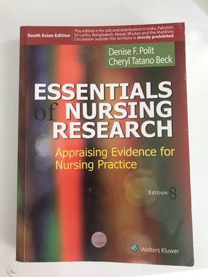 Essentials of nursing research 8ed for Sale in Alexandria, VA