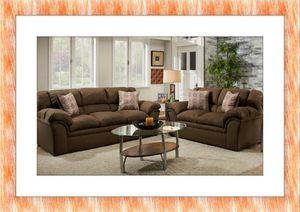 Chocolate sofa and love seat free shipping for Sale in Fort Washington, MD