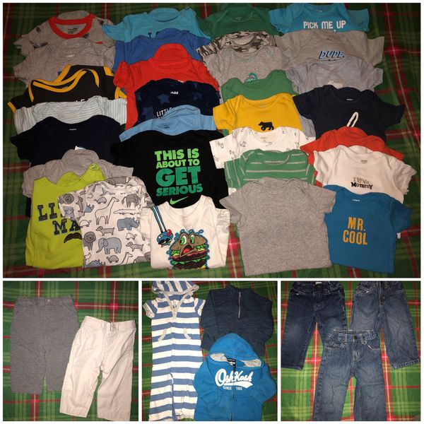 3c5fce1cc Lot of baby boy fall winter clothing size 12-18 months for Sale in ...