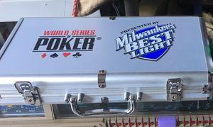 Milwaukee's best beer poker chip set NEW for Sale in Ashton-Sandy Spring, MD