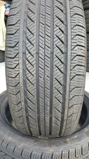 (2) 225/45/18 CONTINENTAL 99% TREAD TAKE OFFS BMW MERCEDES VW for Sale in Tampa, FL