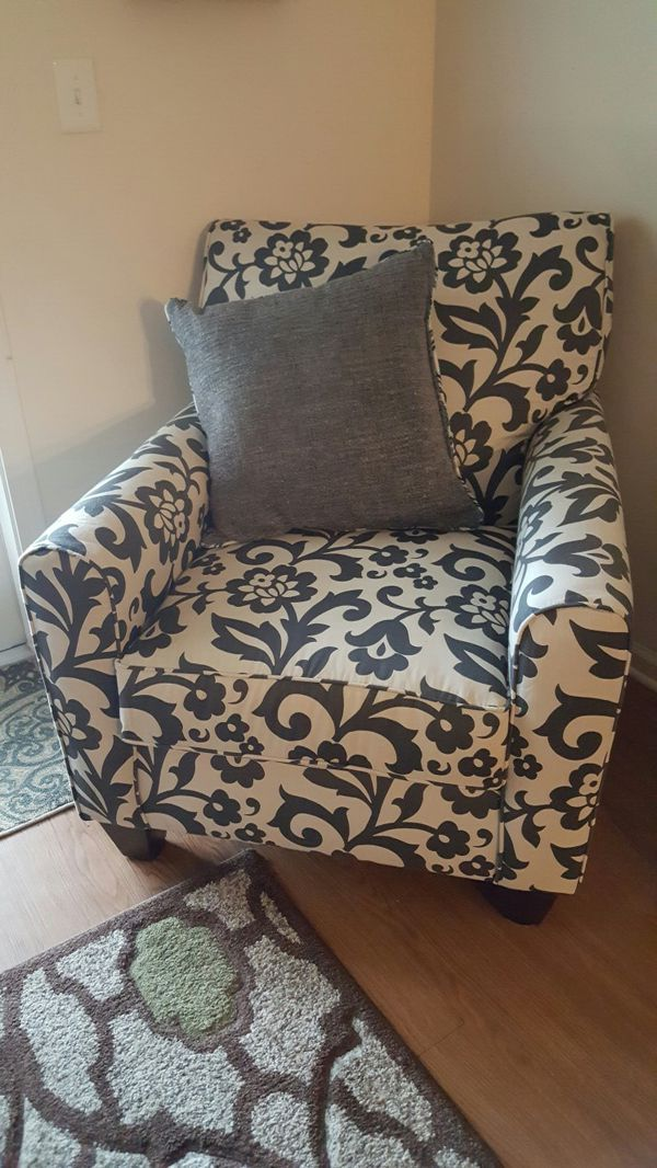 Simmons Flannel Levon Charcoal Accent Chair for Sale in ...