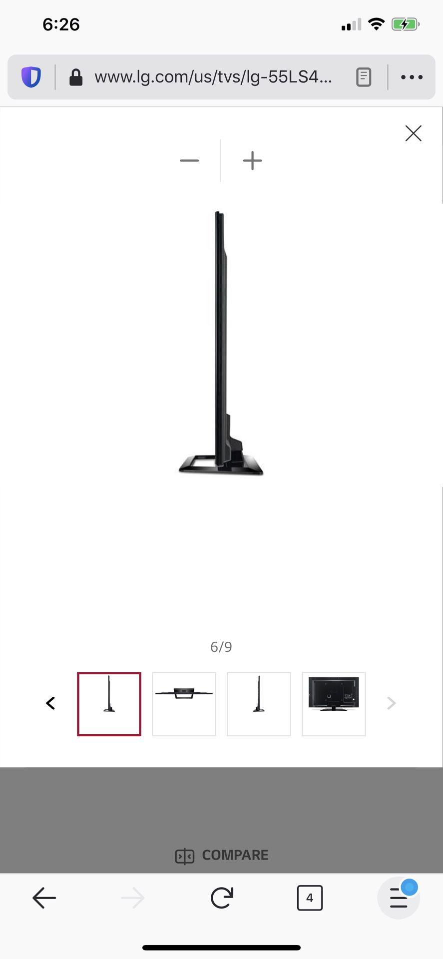 Lg 55 inch tv ls4600 model
