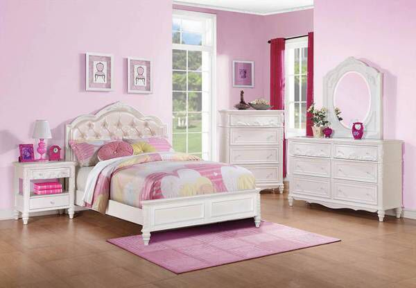 Pink Leatherette Upholstered Twin Bed! Lowest Prices Ever!