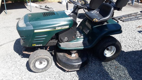 Craftsman lt1000 riding mower for Sale in Tacoma, WA - OfferUp