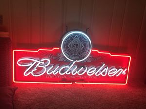 Budweiser The Great American Lager Neon Sign for Sale in North Ridgeville, OH