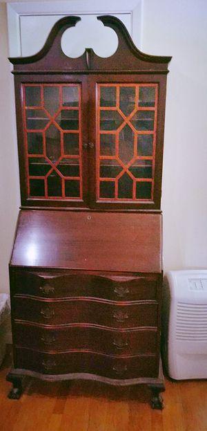 Antique Lock key Secretary Bookshelf for Sale in Arlington, VA