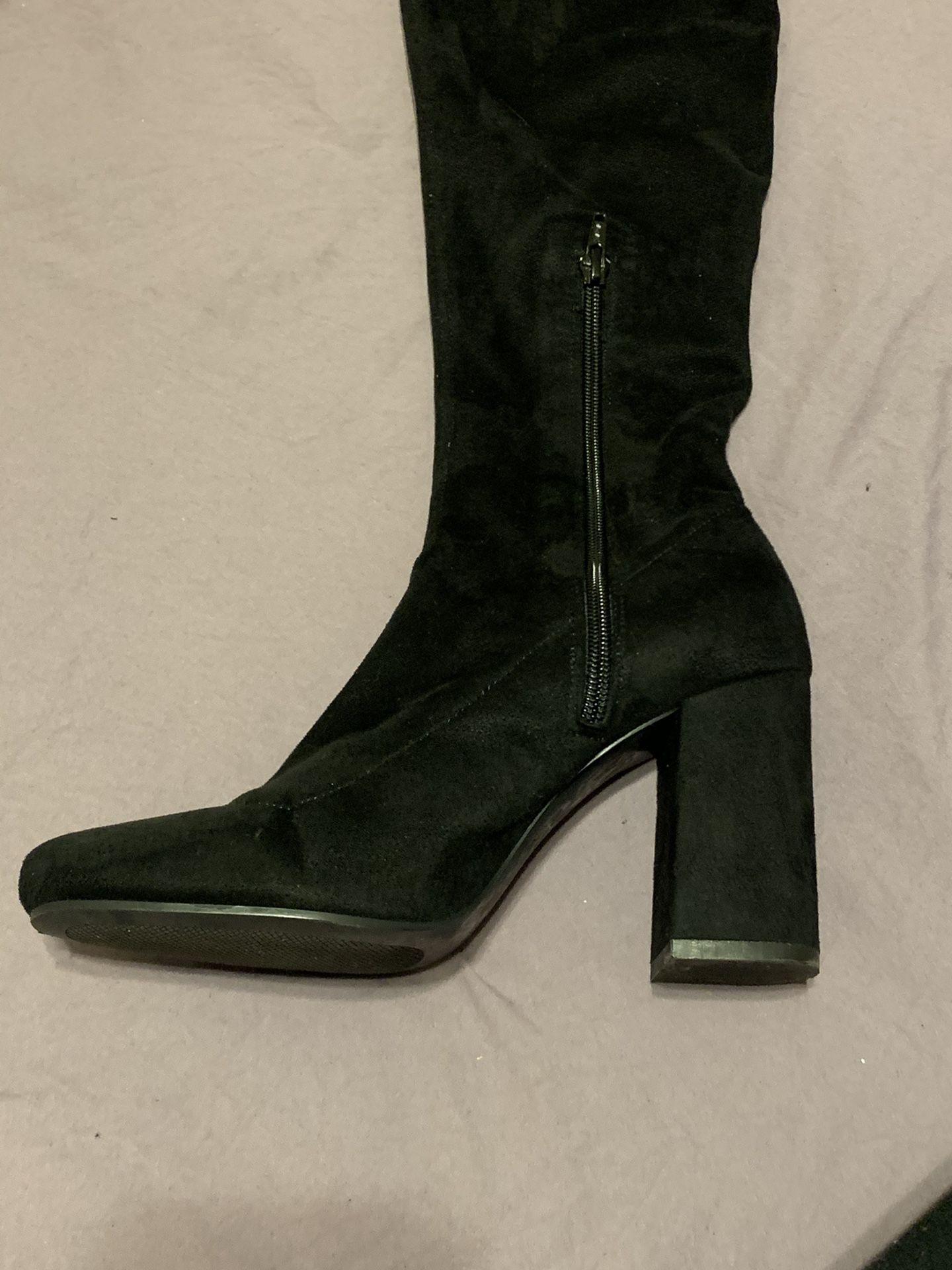 BootsHigh Knee Suede - ZARA