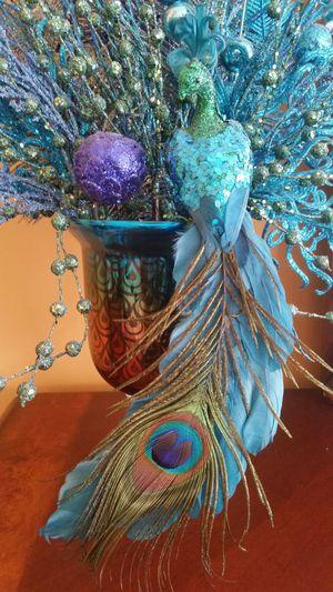 Peacock Vase Ornament for Sale in Haymarket, VA