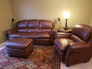 Vintage Autumn Leather Sofa, Chair and Ottoman for Sale in Dublin, OH