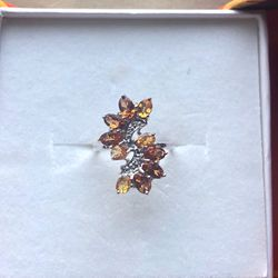 Marquis Hessonite Garnet Ring Thumbnail