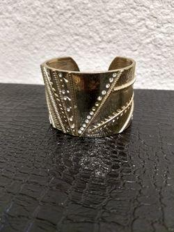 Gold cuff bracelet fantasy jewelry Thumbnail
